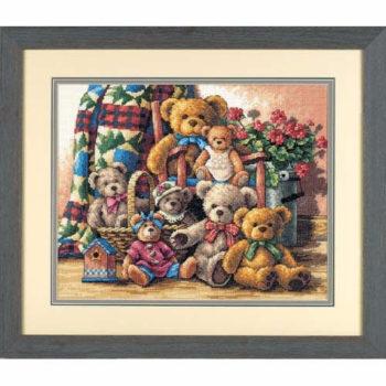 """35115 • Набор для вышивания крестом """"Собрание мишек"""" • """"Teddy Bear Gathering"""" DIMENSIONS Gold Collection"""