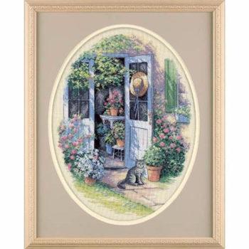 """35124 • Набор для вышивания крестом """"Садовая дверь"""" • """"Garden Door"""" DIMENSIONS"""