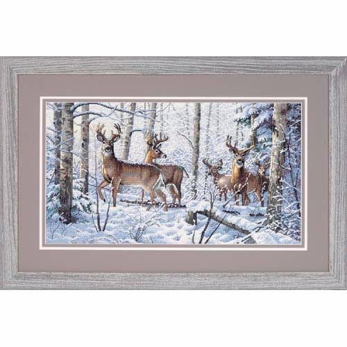 35130 Набор для вышивки крестом «Зима в лесу» • «Woodland Winter» DIMENSIONS Gold Collection