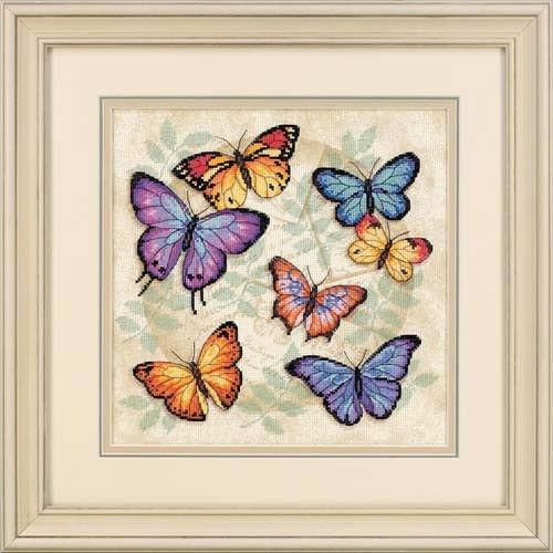 """35145 • Набор для вышивания крестом """"Обилие бабочек"""" • """"Butterfly Profusion"""" DIMENSIONS"""