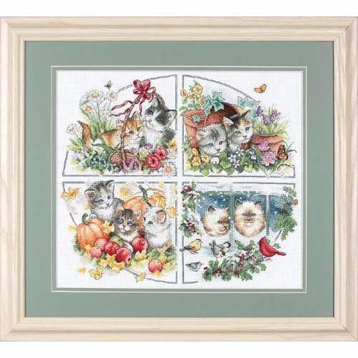 35154 Набор для вышивки крестом «Котята всех сезонов» • «Four Seasons Kittens» DIMENSIONS