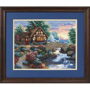 """35172 • Набор для вышивания крестом """"Мост в сумерках"""" • """"Twilight Bridge"""" DIMENSIONS Gold Collection"""
