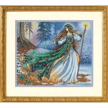 """35173 • Набор для вышивания крестом """"Лесная волшебница"""" • """"Woodland Enchantress"""" DIMENSIONS Gold Collection"""