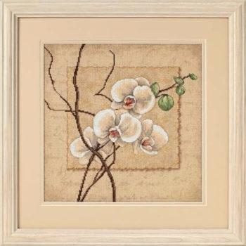 """35176 • Набор для вышивания крестом """"Восточная орхидея"""" • """"Oriental Orchids"""" DIMENSIONS"""