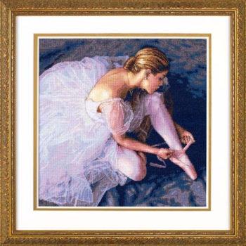"""35181 • Набор для вышивания крестом """"Красота балерины"""" • """"Ballerina Beauty"""" DIMENSIONS Gold Collection"""