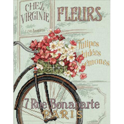 35195 Набор для вышивки крестом «Парижский велосипед» • «Parisian Bicycle» DIMENSIONS