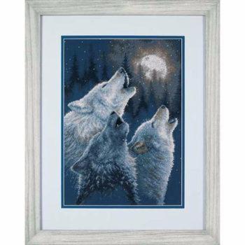 """35203 • Набор для вышивания крестом """"В гармонии. Волки"""" • """"In Harmony. Wolves"""" DIMENSIONS"""
