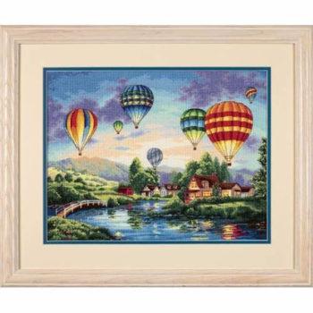 """35213 • Набор для вышивания крестом """"Воздушные шары"""" • """"Balloon Glow"""" DIMENSIONS Gold Collection"""