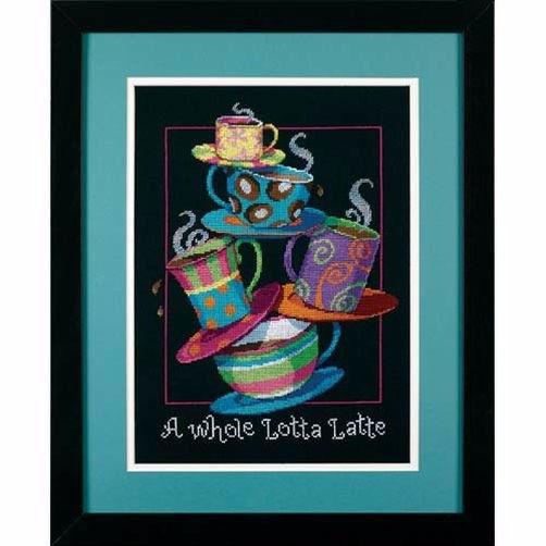 """35218 • Набор для вышивания крестом """"Кофейная пирамида"""" • """"A Whole Lotta Latte"""" DIMENSIONS"""