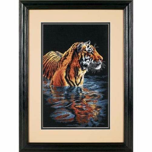 35222 Набор для вышивки крестом «Спокойный тигр» • «Tiger Chilling Out» DIMENSIONS