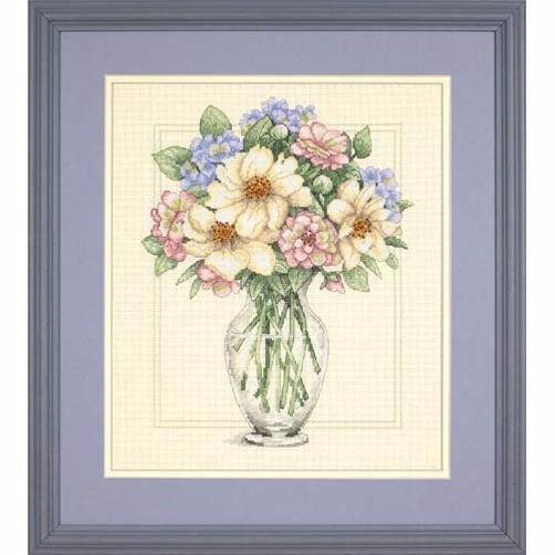 35228 Набор для вышивки крестом «Цветы в высокой вазе» • «Flowers in Tall Vase» DIMENSIONS