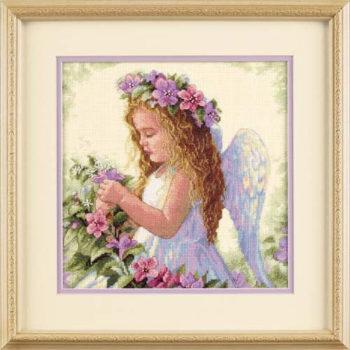 """35229 • Набор для вышивания крестом """"Цветочный ангел"""" • """"Passion Flower Angel"""" DIMENSIONS"""