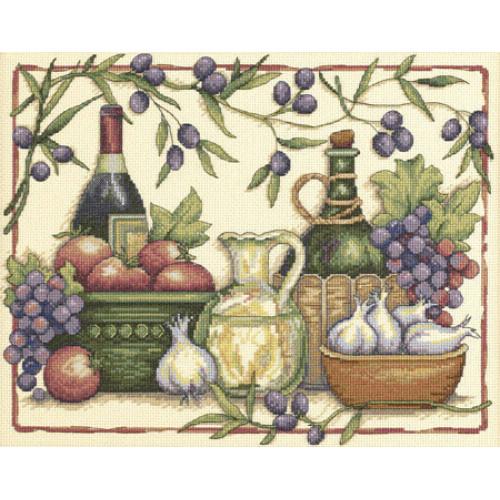 """35232 • Набор для вышивания крестом """"Тосканские ароматы"""" • """"Tuscan Flavors"""" DIMENSIONS"""