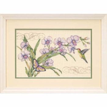 """35237 • Набор для вышивания крестом """"Орхидеи и колибри"""" • """"Orchids & Hummingbird"""" DIMENSIONS"""