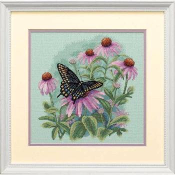"""35249 • Набор для вышивания крестом """"Бабочка и ромашки"""" • """"Butterfly and Daisies"""" DIMENSIONS"""