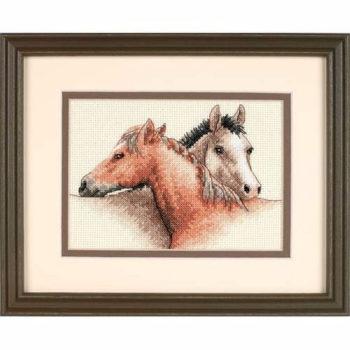 """65030 • Набор для вышивания крестом """"Лошади"""" • """"Horse Pals"""" DIMENSIONS"""
