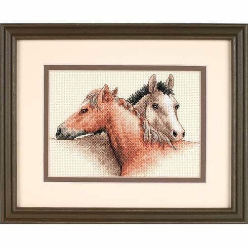 65030 Набор для вышивки крестом «Лошади» • «Horse Pals» DIMENSIONS