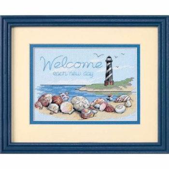 """65032 • Набор для вышивания крестом """"Приветствие каждому новому дню"""" • """"Welcome Each New Day"""" DIMENSIONS"""