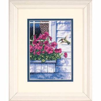 """65037 • Набор для вышивания крестом """"Цветы и колибри"""" • """"Flowers and Hummingbird"""" DIMENSIONS"""