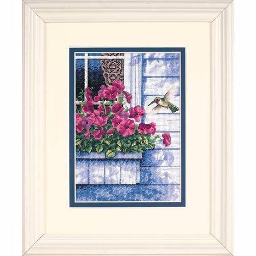 65037 Набор для вышивки крестом «Цветы и колибри» • «Flowers and Hummingbird» DIMENSIONS