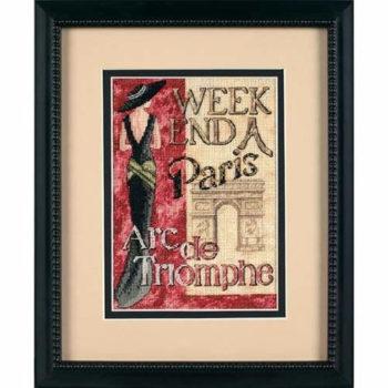 """65049 • Набор для вышивания крестом """"Уикэнд в париже"""" • """"Weekend in Paris"""" DIMENSIONS Gold Collection Petites"""