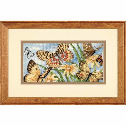 """65055 • Набор для вышивания крестом """"Виньетка с бабочками"""" • """"Butterfly Vignette"""" DIMENSIONS Gold Collection Petites"""