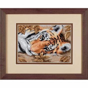 """65056 • Набор для вышивания крестом """"Привораживающий тигр"""" • """"Beguiling Tiger"""" DIMENSIONS"""