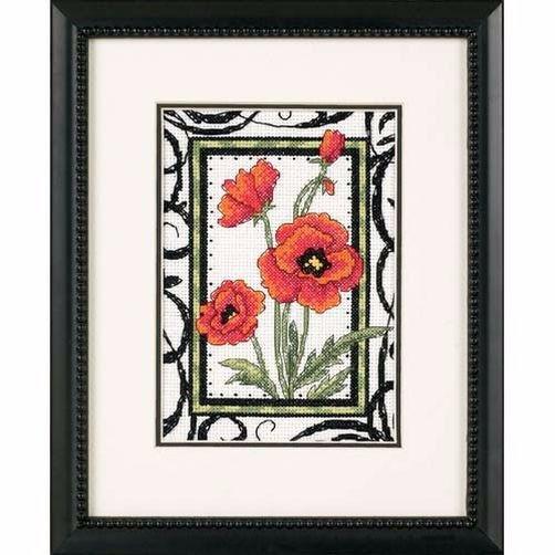 """65064 • Набор для вышивания крестом """"Цветущие маки"""" • """"Blooming Poppies"""" DIMENSIONS"""
