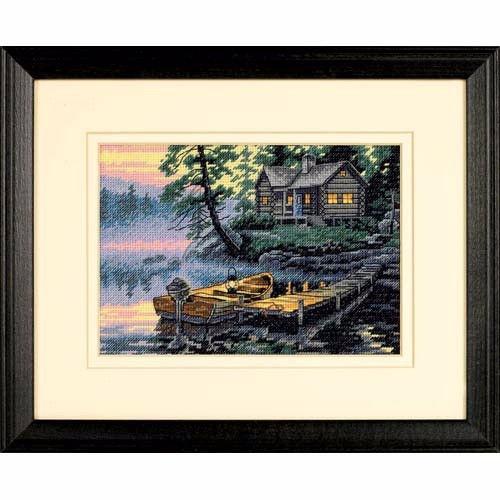 """65091 • Набор для вышивания крестом """"Утро на озере"""" • """"Morning Lake"""" DIMENSIONS Gold Collection Petites"""