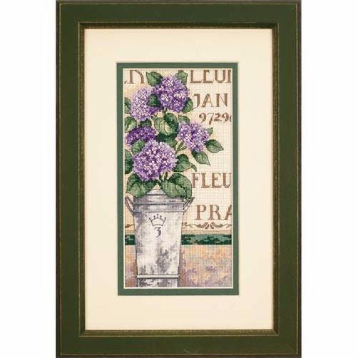 65092 Набор для вышивки крестом «Гортензия» • «Hydrangea Floral» DIMENSIONS Gold Collection Petites