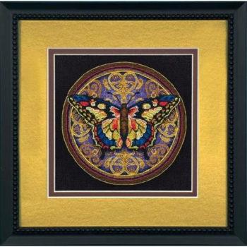 "65095 • Набор для вышивания крестом ""Витиеватая бабочка"" • ""Ornate Butterfly"" DIMENSIONS Gold Collection Petites"