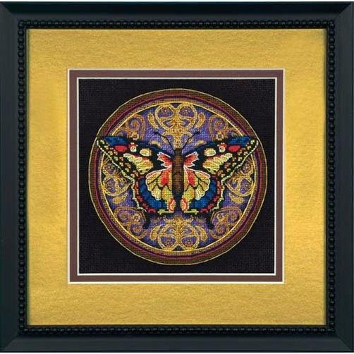65095 Набор для вышивки крестом «Изысканная бабочка» • «Ornate Butterfly» DIMENSIONS Gold Collection Petites
