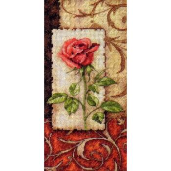 """65096 • Набор для вышивания крестом """"Одинокая роза"""" • """"Single Rose"""" DIMENSIONS Gold Collection Petites"""