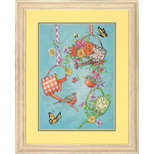 70-03246 Набор для вышивки крестом «Цветущие лейки» • «Blooming Watering Cans» DIMENSIONS