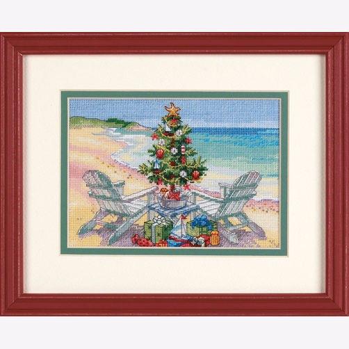 70-08832 Набор для вышивки крестом «Рождество на пляже» • «Christmas on the Beach» DIMENSIONS Gold Collection Petites
