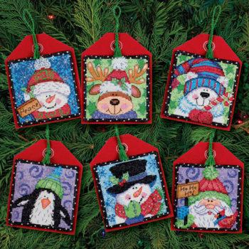 """70-08842 • Набор для вышивания крестом """"Рождественские украшения. Приятели"""" • """"Christmas Pals Ornaments"""""""