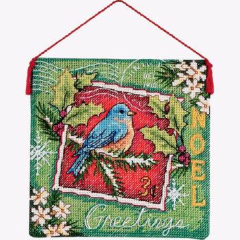 """70-08843 • Набор для вышивания крестом """"Рождественский орнамент. Украшение""""•""""Noel Ornament"""" DIMENSIONS"""