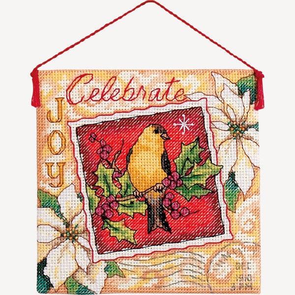 """70-08844 • Набор для вышивания крестом """"Рождественнская радость. Украшение"""" • """"Joy Ornament"""" DIMENSIONS"""