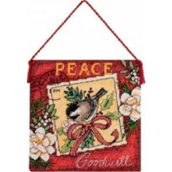 """70-08848 • Набор для вышивания крестом """"Мир. Украшение""""•""""Peace Ornament"""" DIMENSIONS"""
