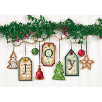 """70-08849 • Набор для вышивания крестом """"Радость. Украшение"""" • """"Joy Tag Ornaments"""" DIMENSIONS"""