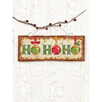 """70-08861 • Набор для вышивания крестом """"Хо Хо Хо. Украшение"""" • """"Ho Ho Ho Ornament"""" DIMENSIONS"""