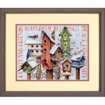 """70-08863 • Набор для вышивания крестом """"Зимние домики"""" • """"Winter Housing"""" DIMENSIONS"""