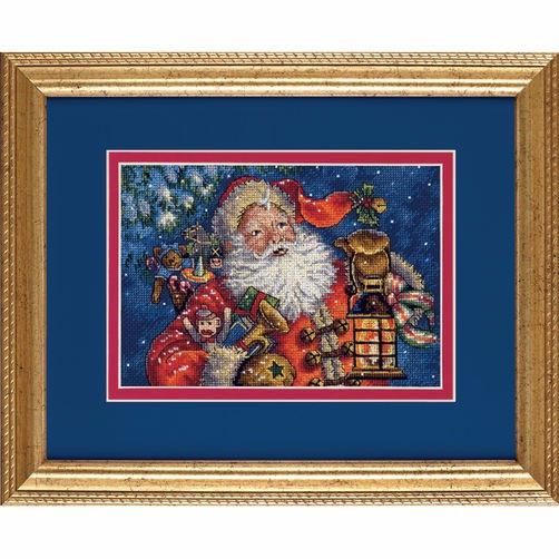 """70-08865 • Набор для вышивания крестом """"Ночной Санта"""" • """"Nighttime Santa"""" DIMENSIONS"""