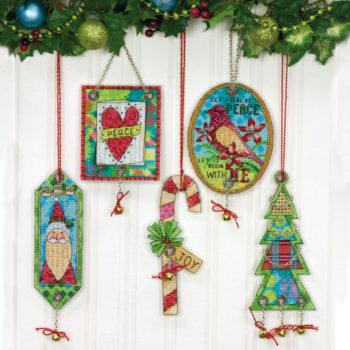 """70-08868 • Набор для вышивания крестом """"Рождество приближается. Украшение"""" • """"Jingle Bell Ornaments"""" DIMENSIONS"""