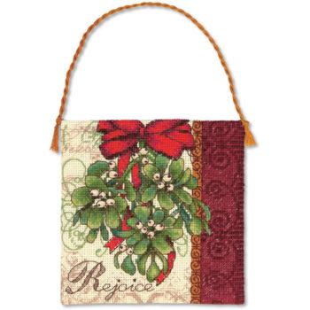 """70-08871 • Набор для вышивания крестом """"Омела. Украшение"""" • """"Mistletoe Ornament"""" DIMENSIONS"""