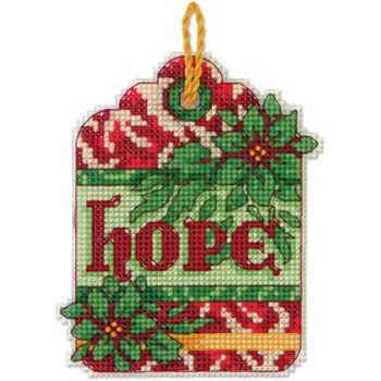 """70-08887 • Набор для вышивания крестом """"Надежда. Украшение"""" • """"Hope Ornament"""" DIMENSIONS"""