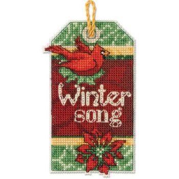 """70-08891 • Набор для вышивания крестом """"Зимняя песня. Украшение"""" • """"Winter Song Ornament"""" DIMENSIONS"""