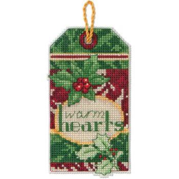"""70-08892 • Набор для вышивания крестом """"Согретые сердца. Украшение"""" • """"Warm Hearts Ornament"""" DIMENSIONS"""