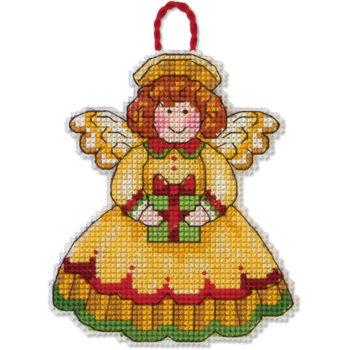 """70-08893 • Набор для вышивания крестом """"Ангел. Украшение"""" • """"Angel Ornament"""" DIMENSIONS"""