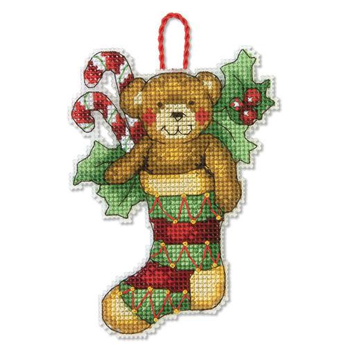 70-08894 Набор для вышивки крестом «Медведь. Украшение» • «Bear Ornament» DIMENSIONS